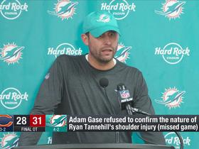 Watch: Adam Gase refuses to share info of Tannehill's injury