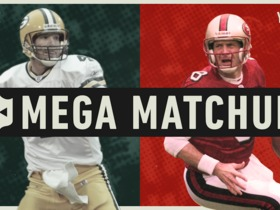 Watch: Mega Matchup: Brett Favre vs. Steve Young