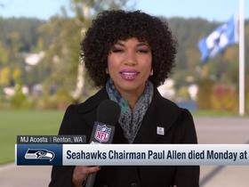 Watch: MJ Acosta: Seahawks '12' flag flying at half staff at facility in honor of Paul Allen