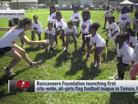 Watch: Bucs foundation helps launch girls flag football league