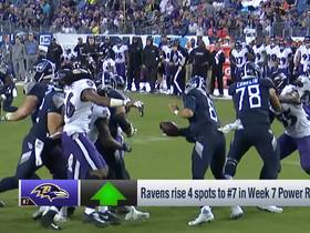 Watch: Ravens rise four spots in Week 7 | Power Rankings