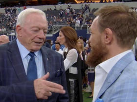 Watch: McGregor tells Jerry Jones he wants a fight in AT&T Stadium