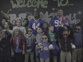 Watch: Buffalo Bills players participated in community outreach day