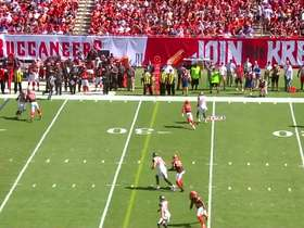 Watch: Jameis Winston steps up to deliver strike to Mike Evans