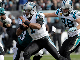 Watch: Cam Newton clears path for Jarius Wright's sideline run
