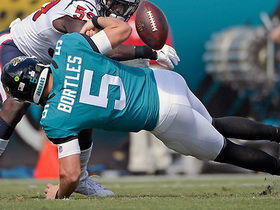 Watch: Bortles fumbles again rushing for first down