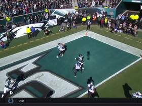 Watch: Wentz tosses signature TD to Goedert in the back of the end zone