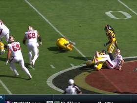 Watch: Trevon Young recovers fumble after strip-sack
