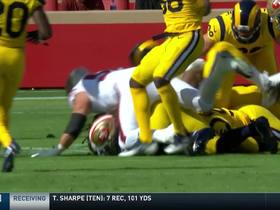 Watch: Aaron Donald strips Breida and recovers fumble in single motion