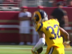Watch: Troy Hill hops into route to pick Beathard