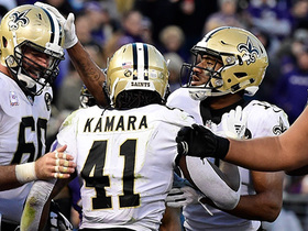 Watch: Alvin Kamara powers in for goal-line TD