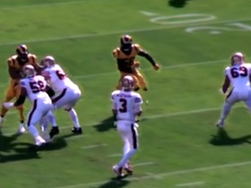 Watch: See the wide open path Cory Littleton uses to sack Beathard in 360 | True View