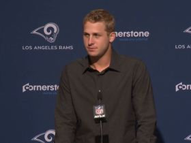 Watch: Goff hopes to 'never play against' Aaron Donald after four sack day