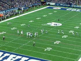 Watch: Aerial footage of Margus Hunt batting down pass attempt | True View