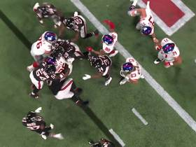 Watch: Saquon powers through Falcons linemen for TD