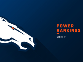 Watch: Broncos rise seven spots to No. 19 in Week 8 | Power Rankings