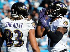 Watch: Flacco lobs short pass to Javorius Allen for 9-yard TD