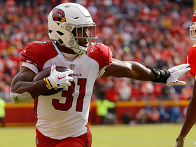 Watch: Rosen finds David Johnson for red-zone TD