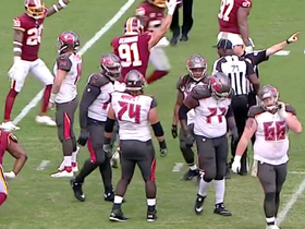 Watch: Kerrigan hits ball during Preston Smith's sack for red-zone fumble