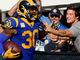 Watch: Gurley high-fives fans along end zone after TD