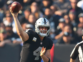 Watch: Carr throws ball away on fourth-and-5