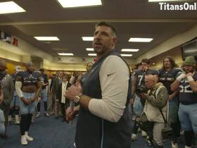 Watch: Mike Vrabel credits Titans' determination for Week 10 victory in locker room speech