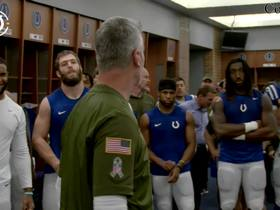 Watch: Frank Reich celebrates Colts' division win in locker room speech