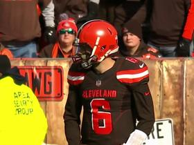 Watch: Next Gen Stats: Measuring completion probability of Mayfield's 28-yard TD to Higgins