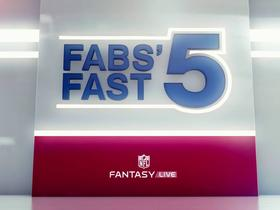 Watch: Fabs' Fast 5: Surprises of Week 10 | NFL Fantasy Live