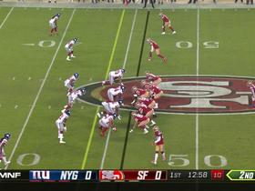 Watch: Nick Mullens slings first-down pass from his knees