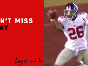 Watch: Can't-Miss Play: Saquon's one-hand catch attempt ends wildly