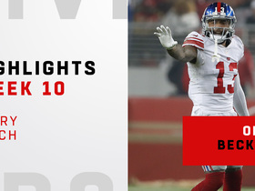 Watch: Every Odell Beckham Jr. catch from 'MNF' | Week 10