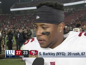 Watch: Saquon Barkley on key to his game: My teammates