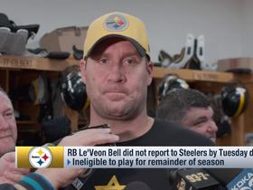 Watch: Roethlisberger says Bell didn't answer his text