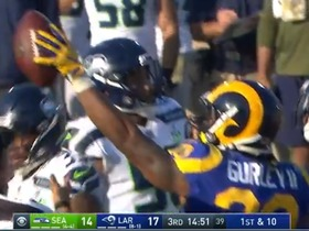 Watch: Todd Gurley works up the middle vs. the Seahawks
