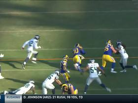 Watch: Todd Gurley bounces outside for first down