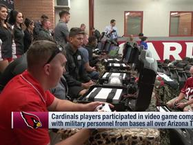 Watch: Cardinals players participate in video game competition with military personnel Tuesday