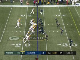 Watch: Rodgers drops pass in bucket to Davante for 41 yards