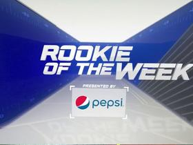 Watch: Pepsi Rookie of the Week winner | Week 10