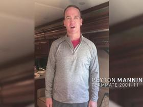 Watch: Peyton Manning, former Colts congratulate Reggie Wayne on Ring of Honor induction
