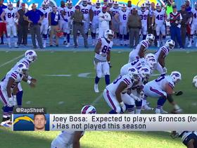Watch: Rapoport: Joey Bosa expected to make season debut vs. Broncos