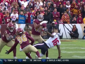 Watch: Tip drill! Redskins haul in INT off Watson's errant pass