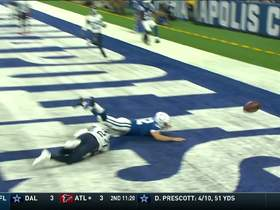 Watch: Luck lays out for diving TD catch attempt on trick play