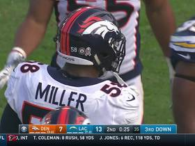 Watch: Von Miller grabs his 100th career sack