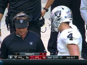 Watch: Every Carr and Gruden sideline interaction | Week 11