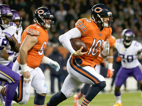 Watch: Trubisky breaks away from would-be sack to pick up the first down