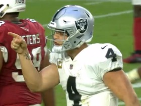 Watch: Go inside Carr's helmet as he looks off the safety to pick up a crucial first down | True View