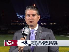 Watch: Ruiz: Chiefs and Rams will pay tribute to Californians affected by tragedy during MNF
