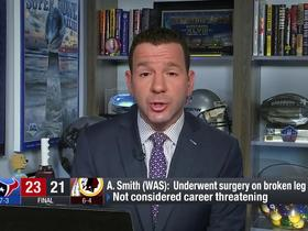 Watch: Rapoport: Alex Smith's injury 'not a career threatening injury'