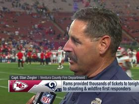 Watch: Ventura County Fire Capt. Stan Ziegler talks wildfire relief, Chiefs vs. Rams